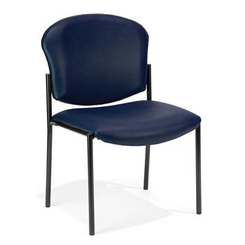 OFM™ Manor Series Armless Guest and Reception Chair, Navy