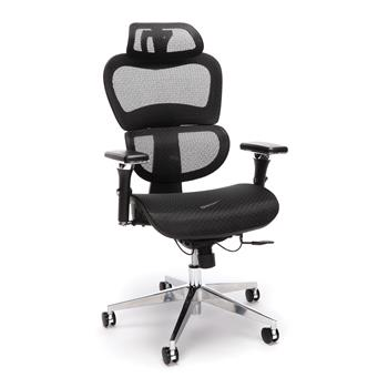 OFM™ Ergo Office Chair featuring Mesh Back and Seat with Optional Headrest, Black
