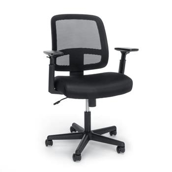 OFM™ Essentials Collection Mesh Back Chair with Adjustable Arms, Black