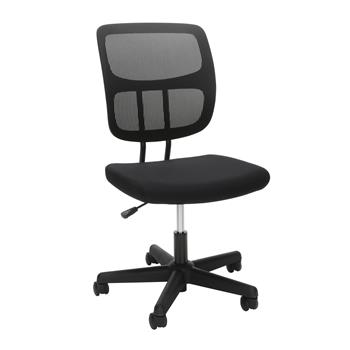 OFM™ Essentials Collection Armless Mesh Office Chair, Black