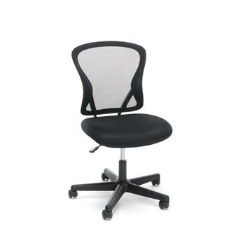 OFM™ Essentials Collection Mid-Back Swivel Armless Task Chair, Black Mesh