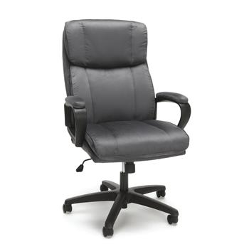 OFM™ Essentials Collection Plush High-Back Microfiber Office Chair, Gray