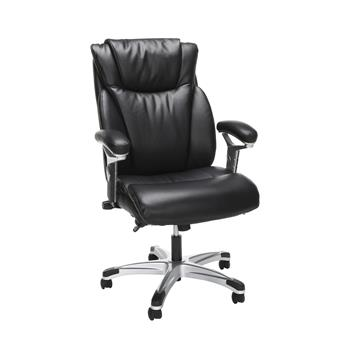 OFM™ Essentials Collection Ergonomic Executive Bonded Leather Office Chair, Black