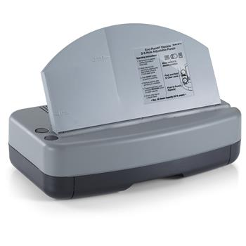 """Officemate Electric 2-3 Hole Adjustable Eco-Punch, 9/32"""" Hole Diameter, Black/Gray/Green"""