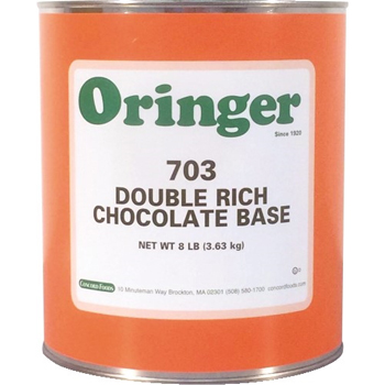 Oringer Double Rich Chocolate Base, 8 lb., 6/CS