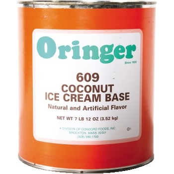 Oringer Coconut Fruit Base, #10 Can, 6/CS
