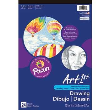 "Pacon® Art1st Drawing Pad, 12"" x 18"", 24 Sheets"