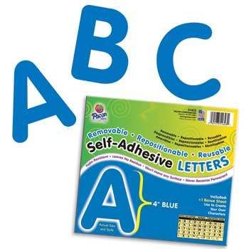 """Self-Adhesive Letters, Blue, 4"""""""