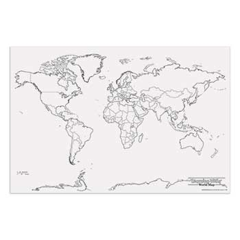 Pacon® Map, Learning Wall, World