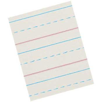 "Pacon® Zaner-Bloser Broken Midline Paper, Grade 3, 8"" x 10.5"", 500/RM"