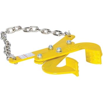 "Vestil Double Scissor Pallet Puller, 5000 lb. Capacity, 4"" Jaw, Yellow"