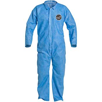 DuPont® ProShield® 10 Collared Coveralls, Elastic Waist, Open Wrists and Ankles, Blue, 2X-Large, 25/CS
