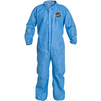 DuPont® ProShield® 10 Collared Coveralls, Elastic Waist, Wrists and Ankles, Blue, 2X-Large, 25/CS