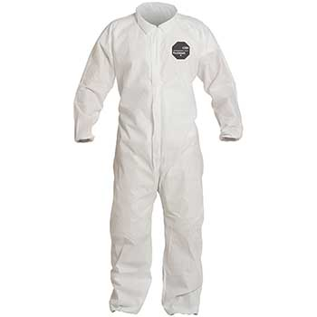 DuPont® ProShield® 10 Collared Coveralls, Elastic Waist, Wrists and Ankles, White, 2X-Large, 25/CS
