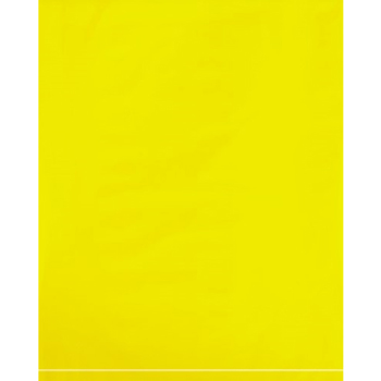 "Flat 2 Mil Poly Bags, 12"" x 15"", Yellow, 1000/CS"