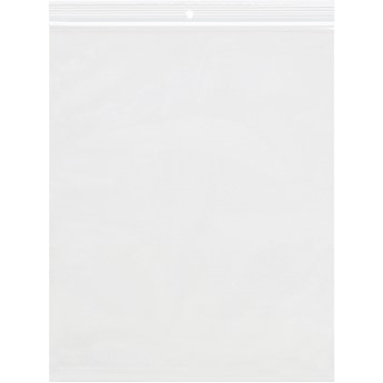 "LADDAWN Reclosable 4 Mil Poly Bags w/Hang Hole, 10"" x 12"", Clear, 500/CS"