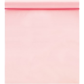 "Anti-Static 4 Mil Reclosable Poly Bags, 9"" x 12"", Pink, 1000/CS"