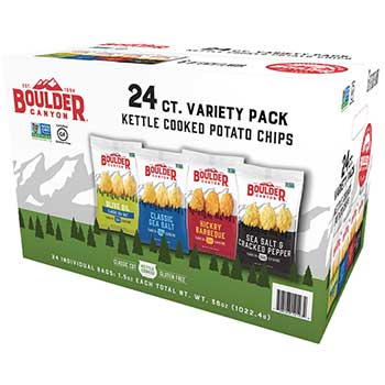 Kettle Cooked Chips Variety Pack, 1.5 oz., 24/CS