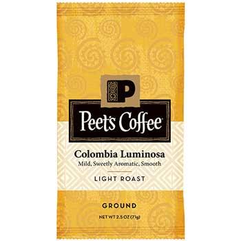 Peet's Coffee & Tea® Pre-Measured Coffee Packs, Columbia Luminosa, Light, 2.5 oz., 18/BX