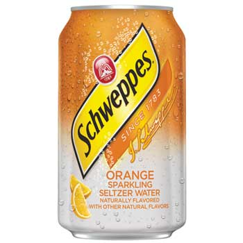 Schweppes® Seltzer Water Orange, 12 oz. Can, 12/PK
