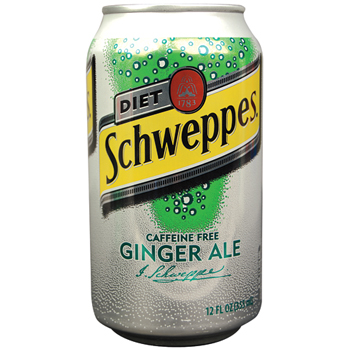 Schweppes® Diet Ginger Ale, 12 oz. Can, 12/PK