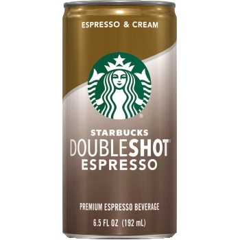 Starbucks® Doubleshot Espresso, Espresso & Cream, 6.5 oz., 12/CS
