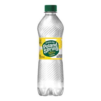 Natural Spring Water, Lemon, 16.9 oz, 24/CS