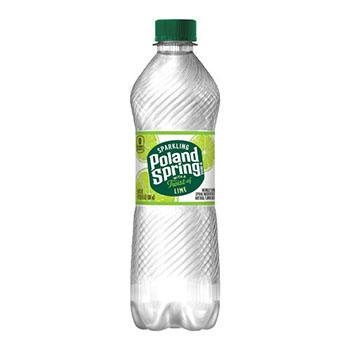 Poland Spring® Sparkling Natural Spring Water, Lime, 16.9 oz, 24/CS