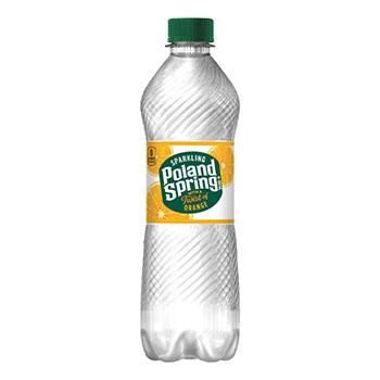 Poland Spring® Sparkling Natural Spring Water, Mandarin Orange, 16.9 oz, 24/CS