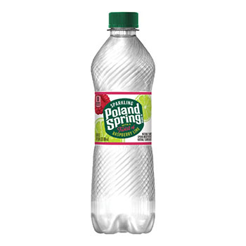Poland Spring® Sparkling Natural Spring Water, Raspberry Lime, 16.9 oz, 24/CS