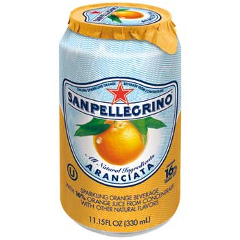 San Pellegrino® Sparkling Fruit Beverage, Orange, 12/CS