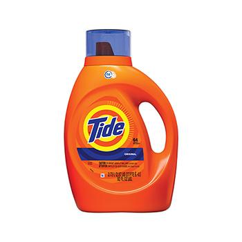 Tide® HE Laundry Detergent, Original Scent, Liquid, 92 oz. Bottle, 64 loads
