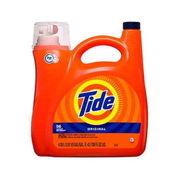 HE Laundry Detergent, Original Scent, Liquid, 138 oz. Pump Bottle, 96 loads