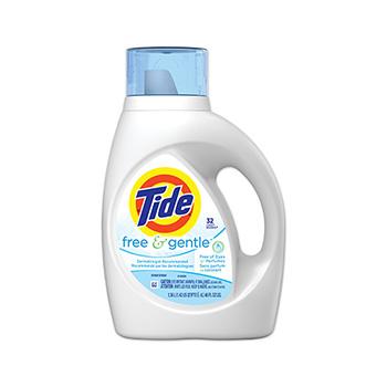 Free & Gentle Liquid Laundry Detergent, 46 oz. Bottle, 32 Loads, 6/Carton