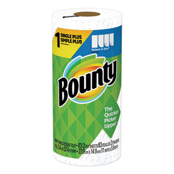 Bounty® Select-a-Size Perforated Roll Towels, 2-Ply, White, 83 Sheets/Roll
