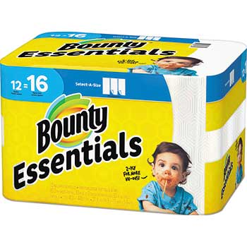 Essentials Select-a-Size Paper Towels, 5 9/10 x 11, 1-Ply, 83/Roll, 12 Rolls/Carton