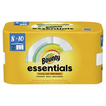 Bounty® Essentials Select-a-Size Paper Towels, 5 9/10 x 11, 1-Ply, 78/Roll, 8/Pack