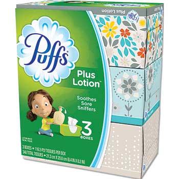 Puffs® Plus Lotion Facial Tissue, 116/Pack
