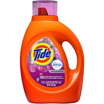 Tide® Plus Febreze Freshness Liquid Laundry Detergent, Spring and Renewal Scent , 92 oz., 59 loads, 4/CT