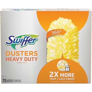 """Swiffer® Heavy Duty Dusters Refill, Dust Lock Fiber, 2"""" X 6"""", Yellow, 33/Carton"""