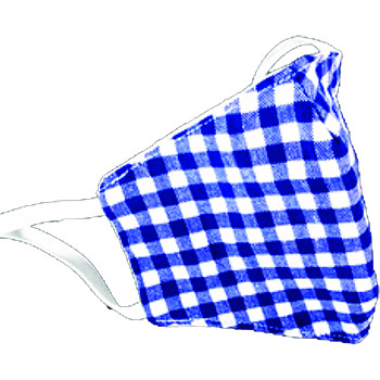 Children's Cotton Face Mask, Washable, Blue Plaid