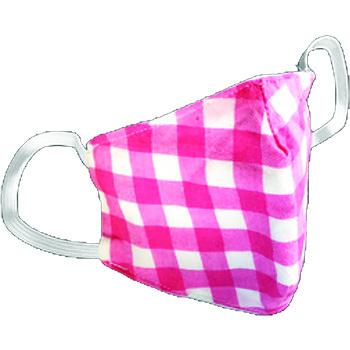 Pongs® Children's Cotton Face Mask, Washable, Pink Plaid