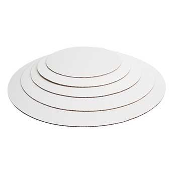 "Pizza Circle, 18"", White, 125/CT"