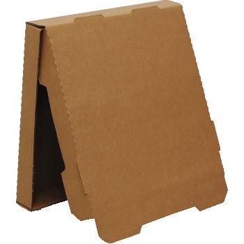 "Chef's Supply Pizza Box, Corrugated, 16"" Kraft, No Print, 50/BD"