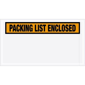 "W.B. Mason Co. Packing List EncloseD Envelopes, 5 1/2"" x 10"", Orange, 1000/CS"