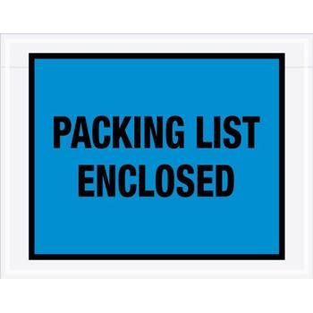 "Tape Logic® Packing List EncloseD Envelopes, 7"" x 5 1/2"", Blue, 1000/CS"