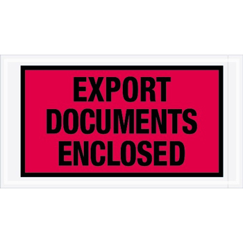 "Tape Logic® Export Documents EncloseD Envelopes, 5 1/2"" x 10"", Red, 1000/CS"