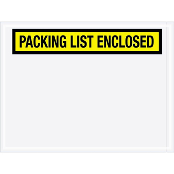 "Tape Logic® Packing List EncloseD Envelopes, 4 1/2"" x 6"", Yellow, 1000/CS"