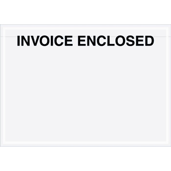 """Tape Logic® Invoice EncloseD Envelopes, Clear Face, 7"""" x 5"""", Clear, 1000/CS"""