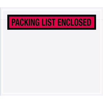 "Tape Logic® Packing List EncloseD Envelopes, 7"" x 6"" Pa, Red, 1000/CS"